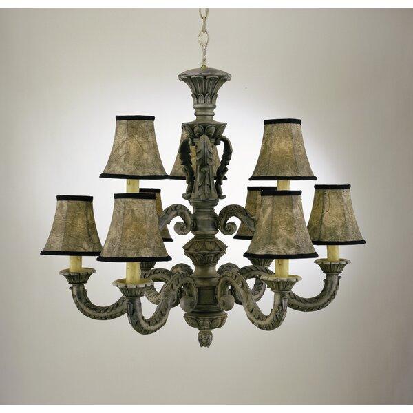 Walburn 9 - Light Shaded Tiered Chandelier by Astoria Grand Astoria Grand