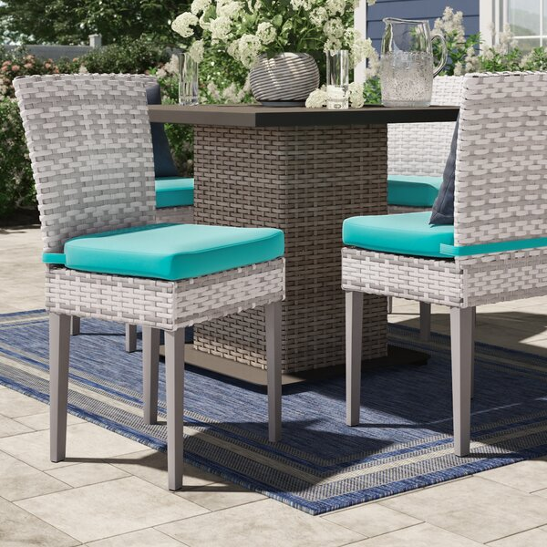 Falmouth Patio Dining Chair with Cushion (Set of 4) by Sol 72 Outdoor