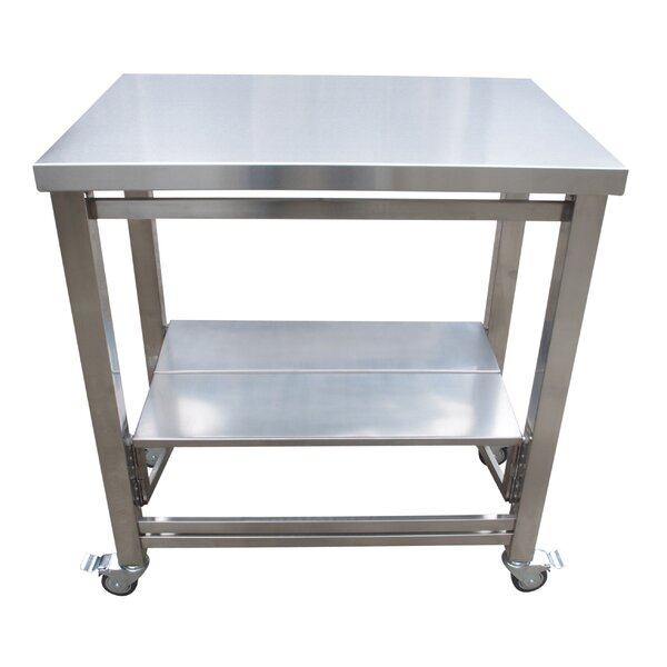 The Flip and Fold Work Station Kitchen Cart by Symple Stuff
