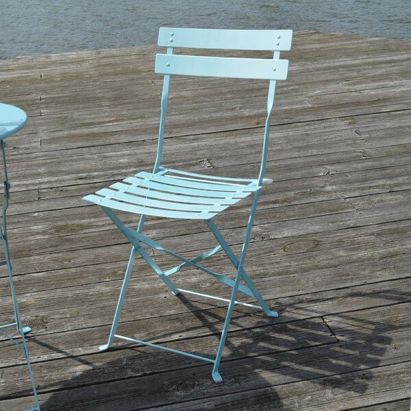 Vasser Folding Patio Dining Chair (Set of 2) by Wrought Studio