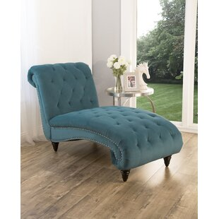 Atkin Tufted Velvet Chaise Lounge
