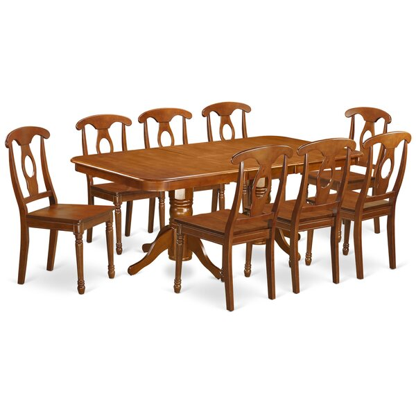 Pillsbury Traditional 9 Piece Wood Dining Set by August Grove