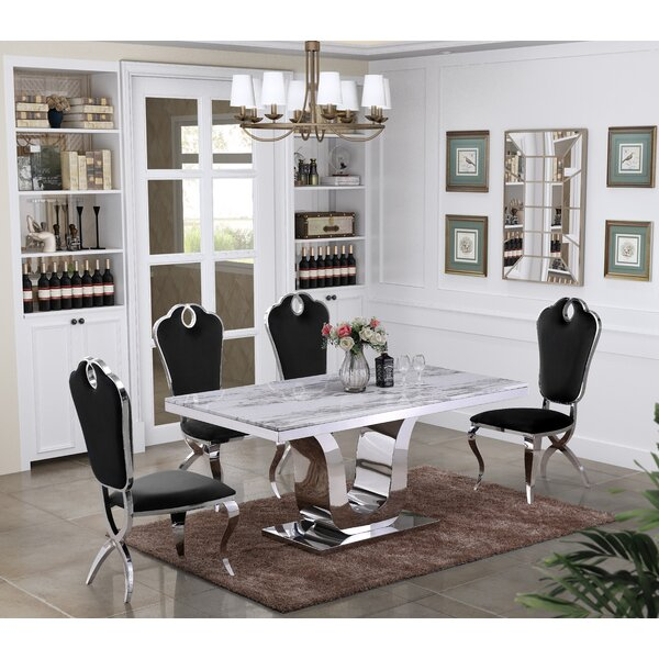 Deeping Marble 5 Piece Dining Set by Everly Quinn
