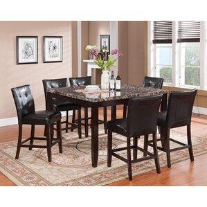 Valentino 7 Piece Pub Table Set by Brassex