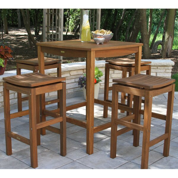 Mallie 5 Piece Bar Height Dining Set by Beachcrest Home