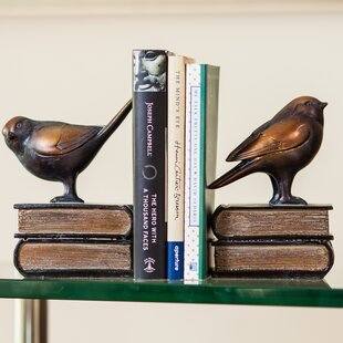 Strikingly Idea Bird Bookends. Bird on Book Bookends Set  of 2 Birch Lane