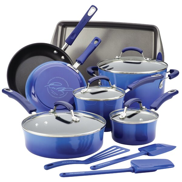 14 Piece Non-Stick Cookware Set by Rachael Ray