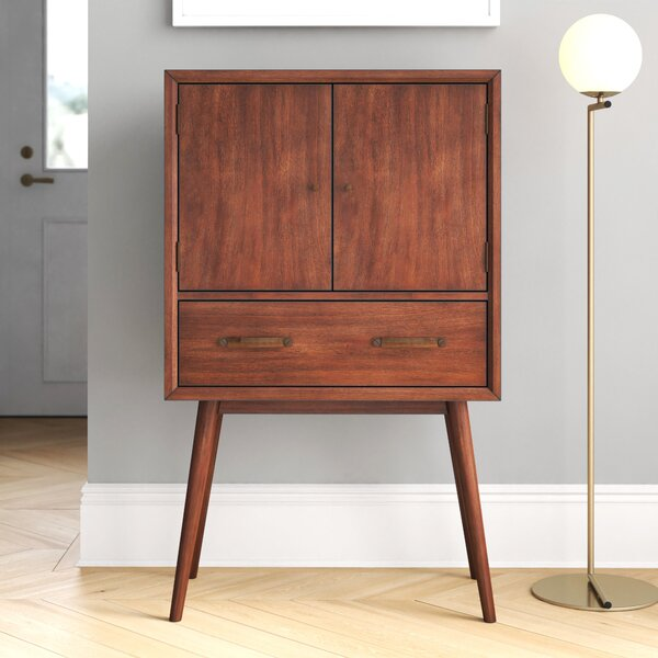 Morris 4 Bottle Floor Bar Cabinet by Foundstone Foundstone
