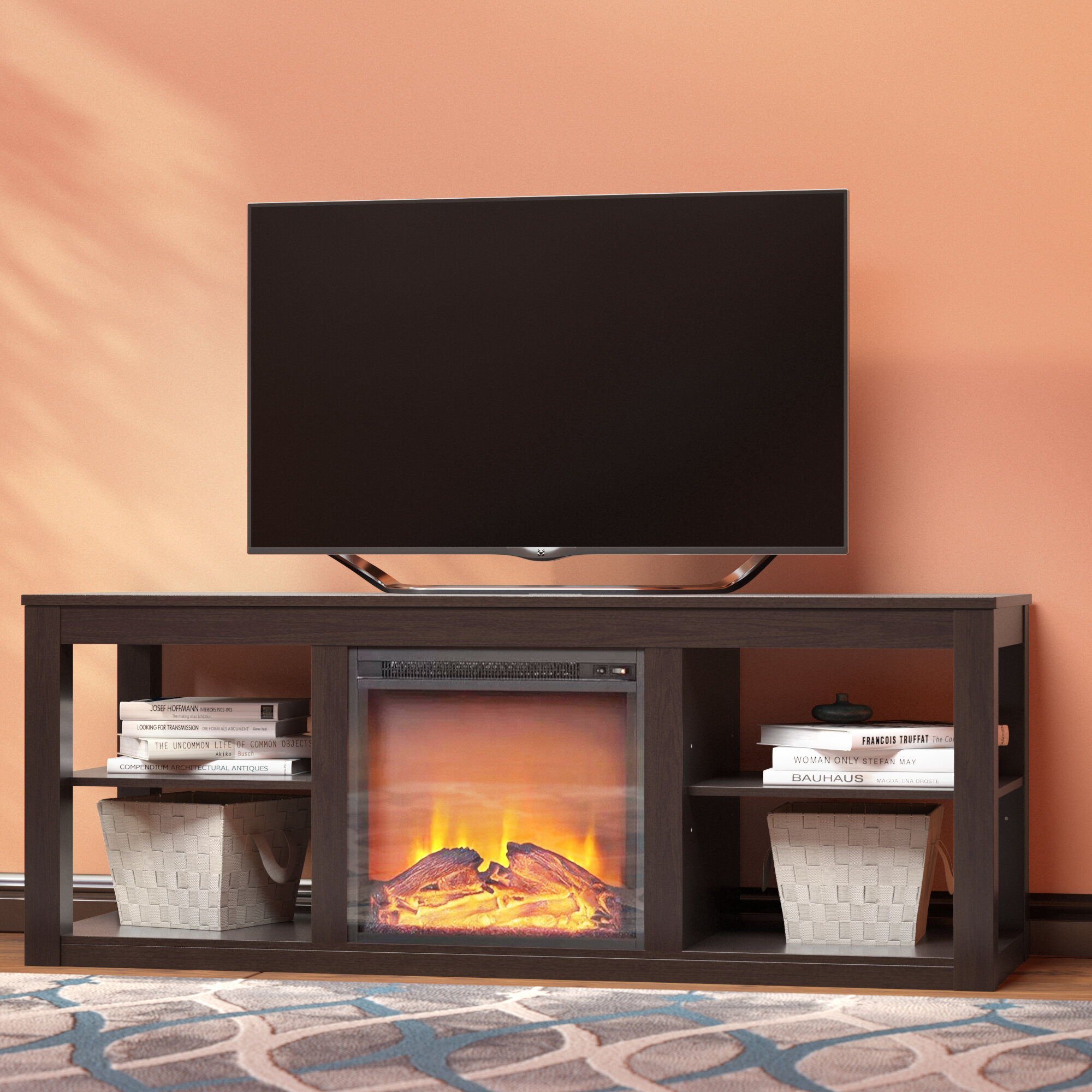 Zipcode Design Rickard Tv Stand For Tvs Up To 65 With Fireplace