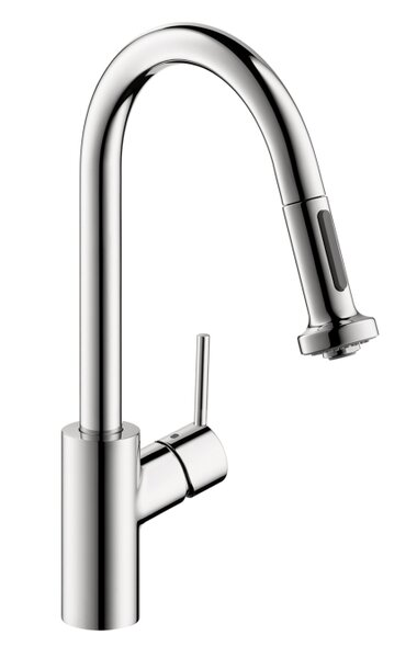 Allegro E Pull Down Single Handle Kitchen Faucet by Hansgrohe