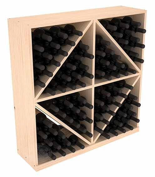 Karnes 96 Bottle Floor Wine Bottle Rack by Red Barrel Studio Red Barrel Studio