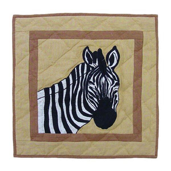 Safari Cotton Throw Pillow by Patch Magic