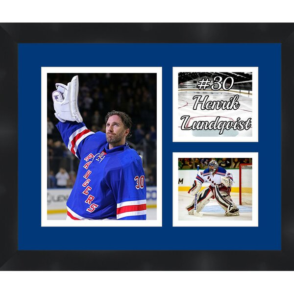 New York Rangers Henrik Lundqvist 30 Photo Collage Framed Photographic Print by Frames By Mail