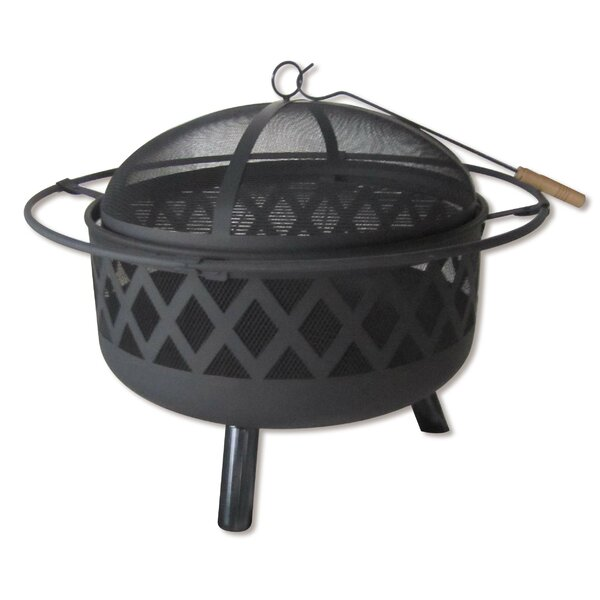 Lattice Steel Wood Burning Fire Pit by Backyard Expressions