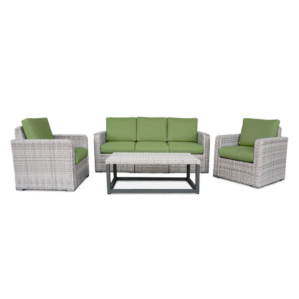 Gallagher 6-Piece Sofa Seating Group with Cushions by Rosecliff Heights