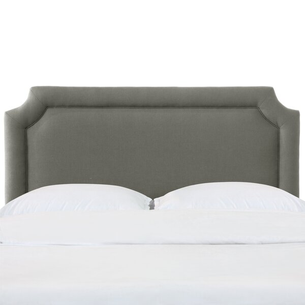 Schmitt Notched California King Upholstered Panel Headboard by Everly Quinn