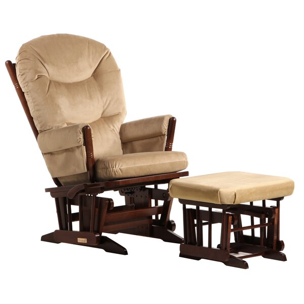 Colonial Frame Glider and Ottoman by Dutailier