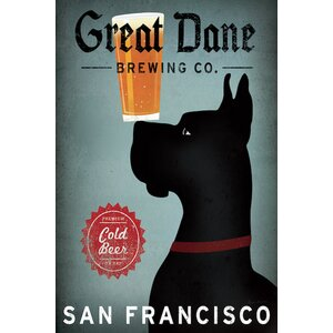 'Great Dane Brewing' by Ryan Fowler Vintage Advertisement on Wrapped Canvas by East Urban Home