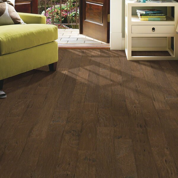 3-1/4 Engineered Hickory Hardwood Flooring in Leather by Welles Hardwood