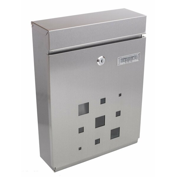 Modern Galvanized Steel Vertical Locking Wall Mounted Mailbox by PeelCo