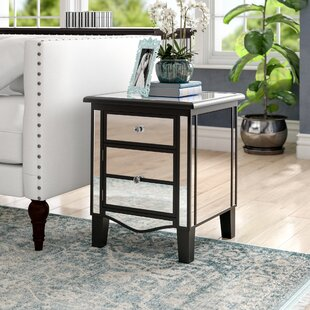 Check Prices Romarin Mirrored End Table By Willa Arlo Interiors