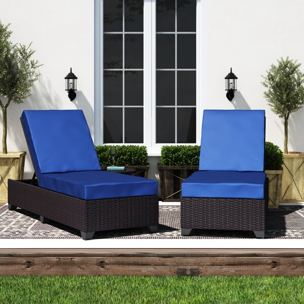 Fernando Sun Lounger Set with Cushions and Table by Sol 72 Outdoor Sol 72 Outdoor