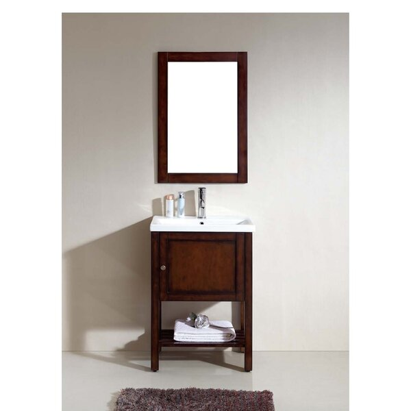 American 24 Single Bathroom Vanity Set with Mirror by Dawn USA
