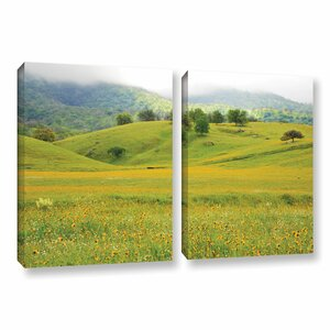 Field of Gold 2 Piece Photographic Print on Wrapped Canvas Set by Latitude Run