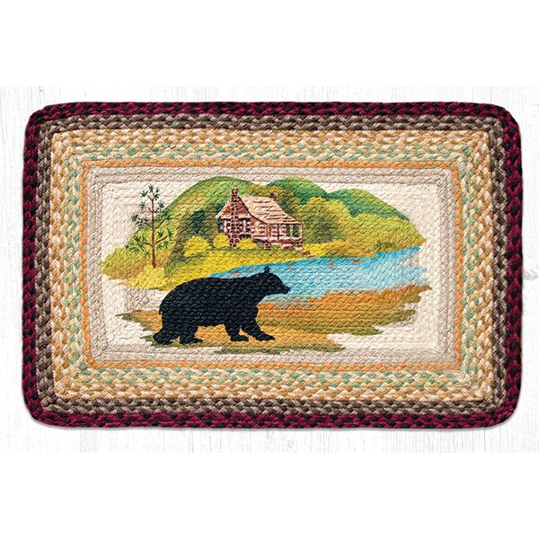 Cabin Bear Brown Patch Area Rug by Earth Rugs