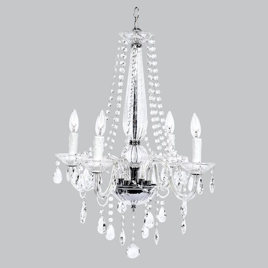 Middleton Glass 4-Light Candle Style Chandelier by Jubilee Collection