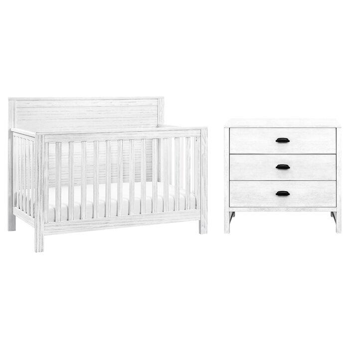 Fairway Convertible Standard Crib And Changer Combo 2 Piece Nursery Furniture Set