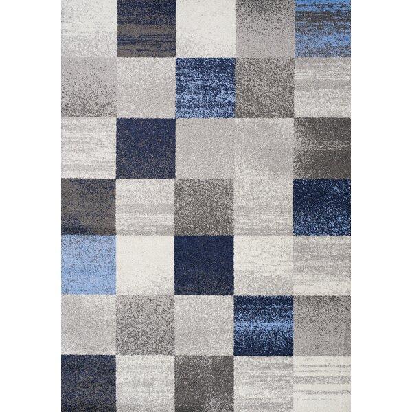 Benn Patchwork Gray/Blue Area Rug by Brayden Studio
