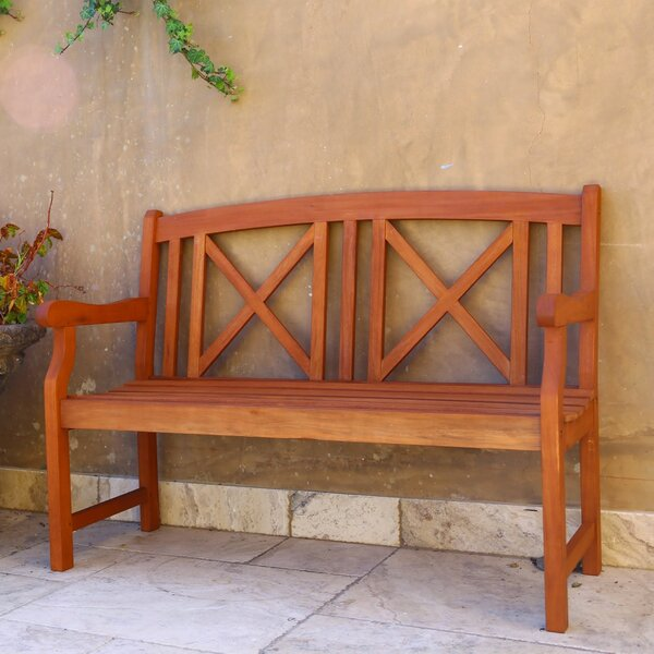 Contemporary Outdoor Wood Garden Bench by Vifah