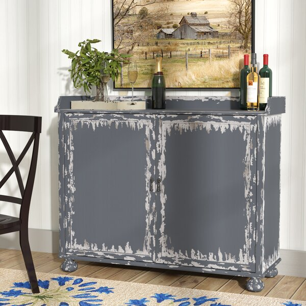 Bryony Distressed Bar Cabinet by August Grove August Grove