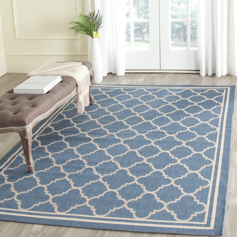 Albuquerque Blue Indoor Outdoor Area Rug