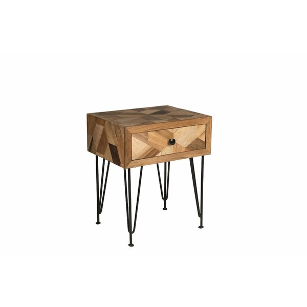 Manges Side Table with Storage by Union Rustic