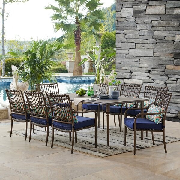 Ritchie 9 Piece Dining Set with Cushions by Bayou Breeze Bayou Breeze