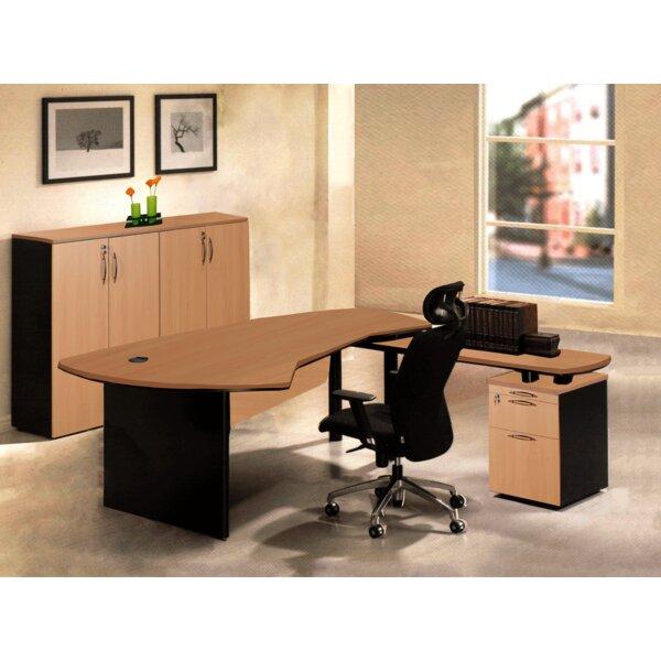 Executive Management 4 Piece L-Shaped Desk Office Suite by OfisELITE