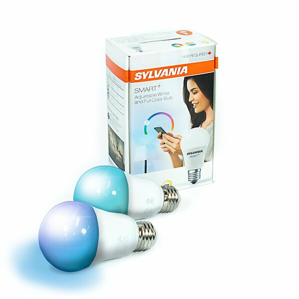 10 Watt (60 Watt Equivalent), A19 LED Smart Light Bulb, Full Color E26/Medium (Standard) Base by Sylvania SMART+