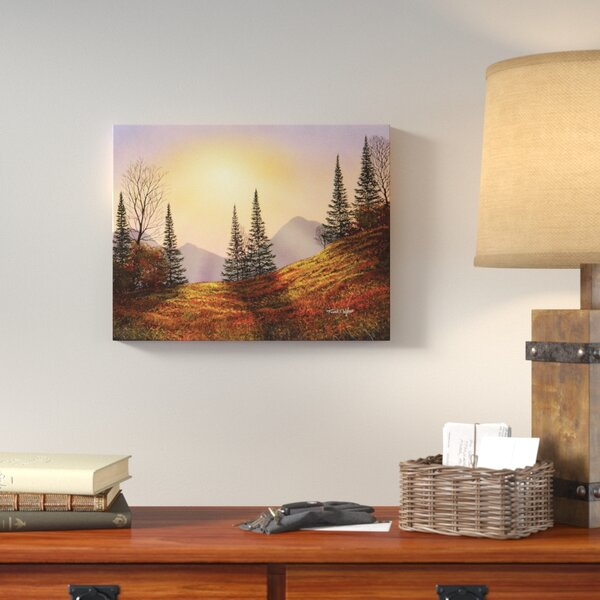 Alpine Sunset Photographic Print on Wrapped Canvas by Loon Peak