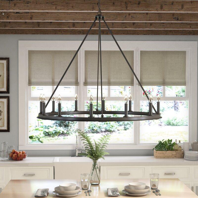 Farmhouse Chandeliers For Dining Room: Laurel Foundry Modern Farmhouse Shayla 12-Light Wagon