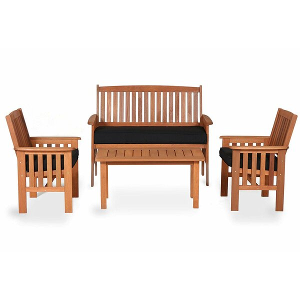 Tierra 4 Piece Multiple Chairs Seating Group with Cushions by Longshore Tides