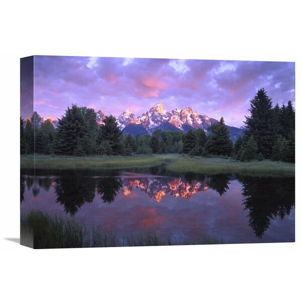 Nature Photographs Teton Range at Sunrise, Schwabacher Landing, Grand Teton National Park, Wyoming Photographic Print on Wrapped Canvas by Global Gallery