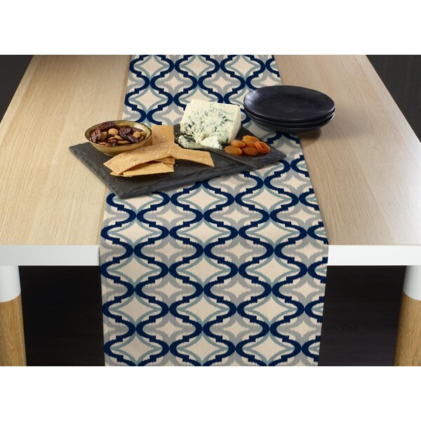 Wimbley Diamond Ogee Milliken Signature Table Runner by Bloomsbury Market