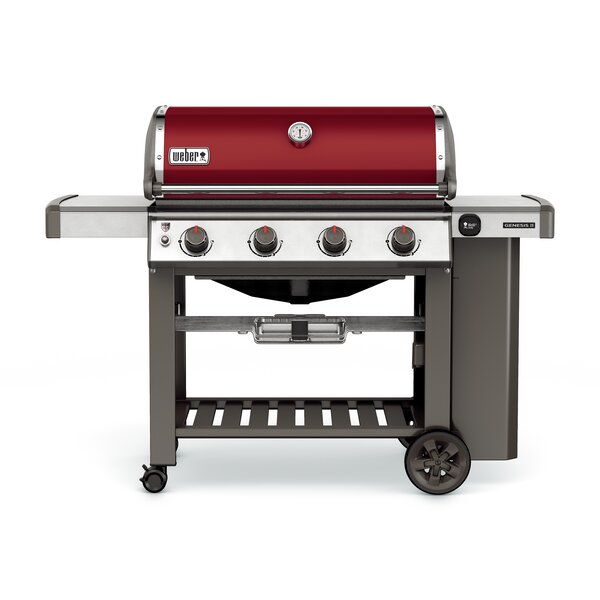 Genesis II E-410 4-Burner Propane Gas Grill with Side Shelves by Weber