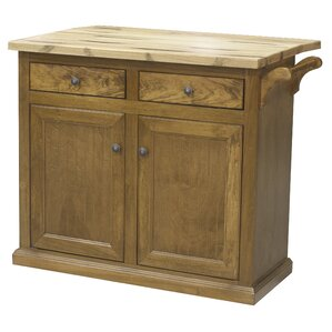 Kitchen Island with Butcher Block Top by Eagle Furniture Manufacturing Cheap