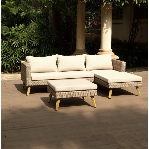 Jacques 4 Piece Rattan Sectional Seating Group With Cushions By Bayou Breeze