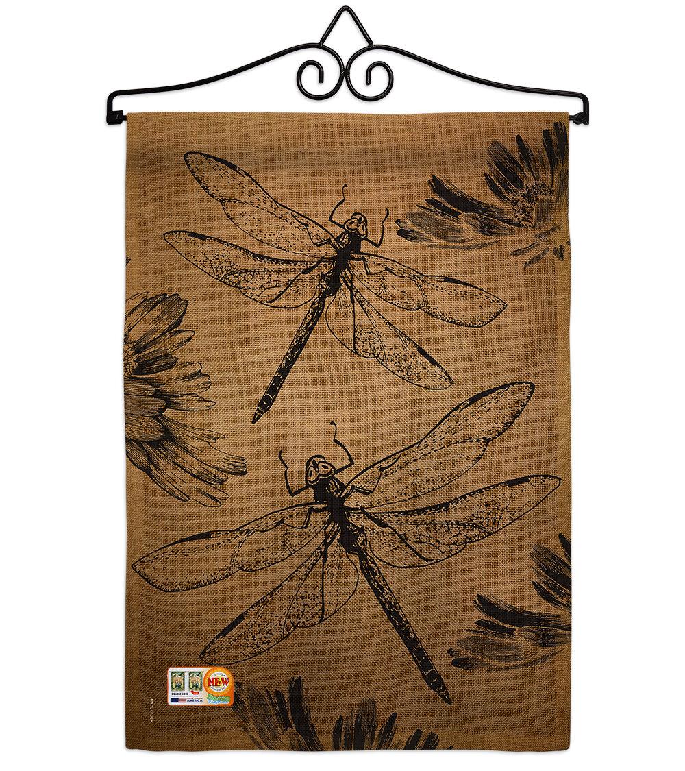 Breeze Decor Dragonfly 2 Sided Burlap 19 X 13 In Garden Flag Wayfair