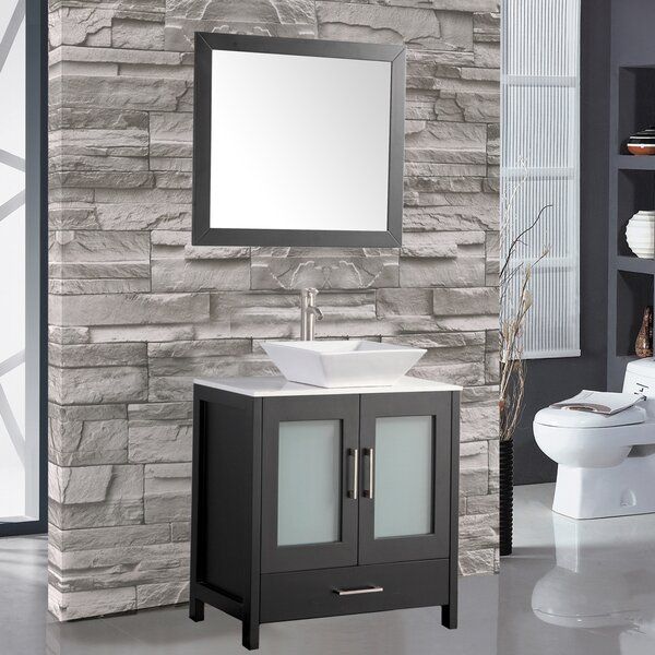 Poyner 30 Single Sink Bathroom Vanity Set with Mir