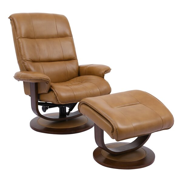 Review Bozrah Manual Swivel Recliner With Ottoman